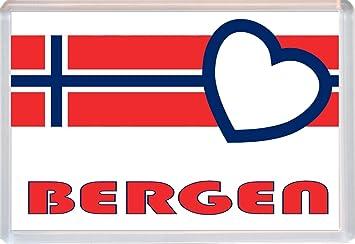 BERGEN - Noruega/Noruego pueblos y ciudades de amor - Jumbo imán ...