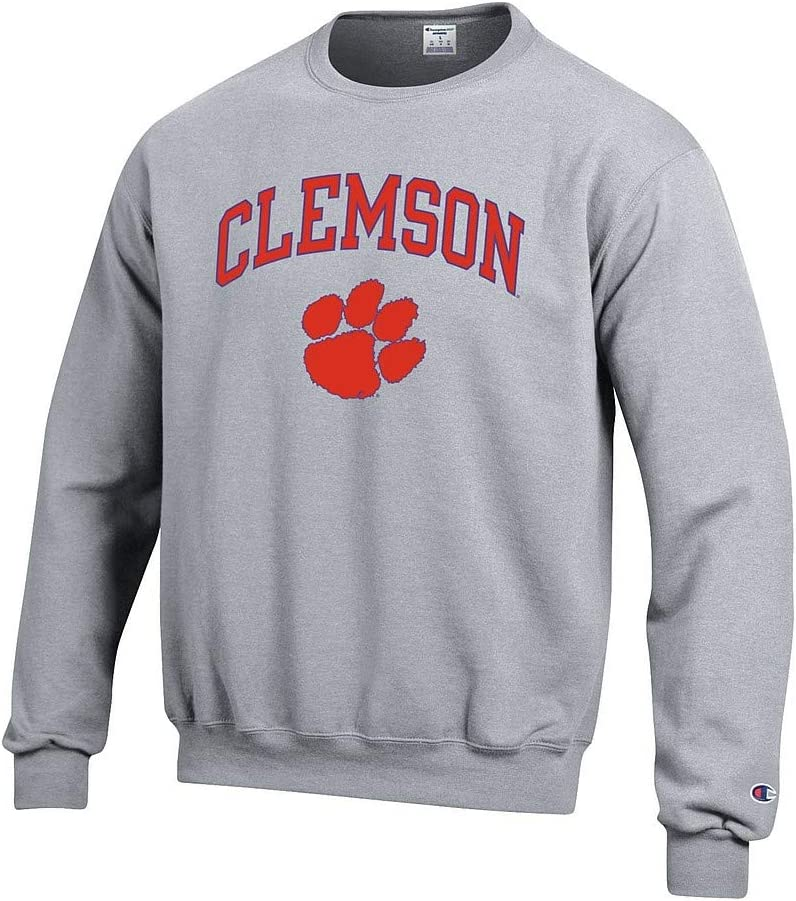 Elite Fan Shop NCAA Mens Crewneck Sweatshirt Oxford Gray