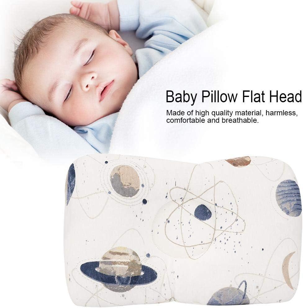 Gefieder GAESHOW Atmungsaktives Baumwoll-Babykissen Weiches Neugeborenen-Kissen Kleinkind-Kopfschutzkissen Passt zu den meisten Betten