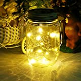 solar mason jar light, 20led glass hanging lantern, outdoor string lamp, fairy decoration for home