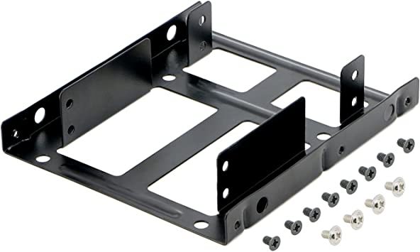 "Dual 2.5/"" SSD HDD to 3.5/"" Metal Mount PC Casing Hard Drive Bay Bracket Adapter"