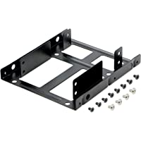 """Pasow 2.5"""" to 3.5"""" SSD HDD Hard Disk Drive Bays Holder Metal Mounting Bracket Adapter for PC (2 x2.5"""" to 3.5"""" Bracket)"""