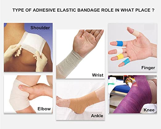 New Security Protection Waterproof Self-adhesive Cshesive Bandages Elastic Wrap First Aid Sports Body Gauze Vet Medical Tape With The Most Up-To-Date Equipment And Techniques Security & Protection