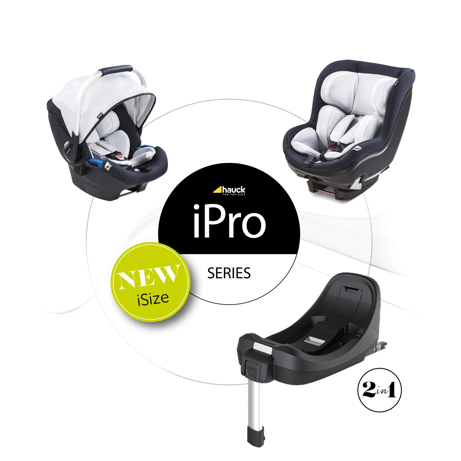 Hauck Ipro Base Isofix Base Compatible With Hauck Ipro Baby And Ipro Kids Car Seats With Colour Indicators For Safety I Size Approved Black Baby