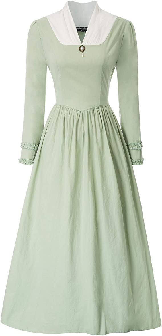 Victorian Dresses | Victorian Ballgowns | Victorian Clothing SCARLET DARKNESS Womens Pioneer Colonial Costume Vintage Prairie Civil Dresses $29.99 AT vintagedancer.com