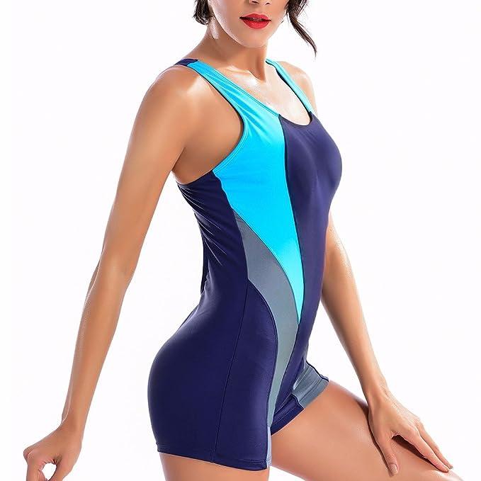 Amazon.com: CFR Mujer One Piece bañadores de Athletic traje ...
