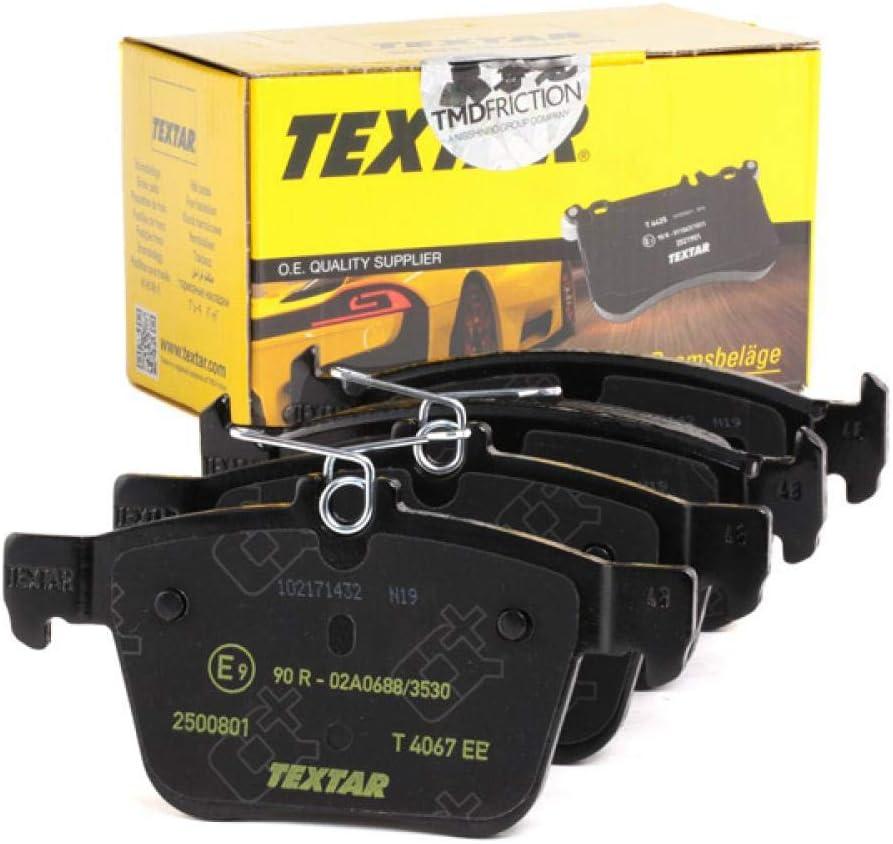 Textar 2500801 Bremsbelagsatz Scheibenbremse