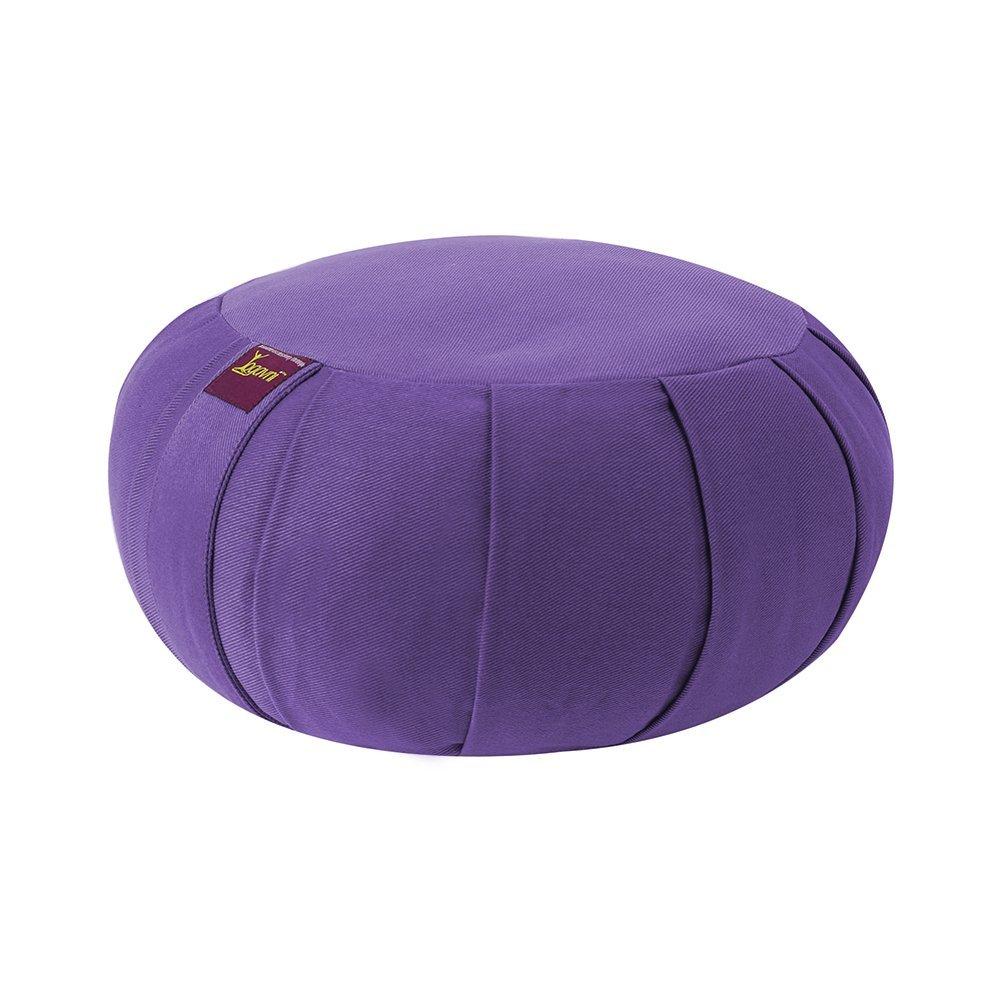 Yoga Meditation Deluxe Studio Grade Kit (set) by Yogavni (TM) (Black Zabuton and Purple Round Zafu with Cotton Filled) by YogavniTM (Image #3)