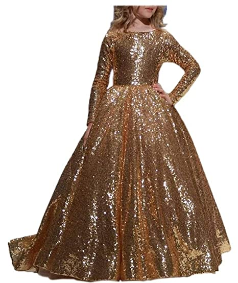 Little Girl Pageant Dresses Gold