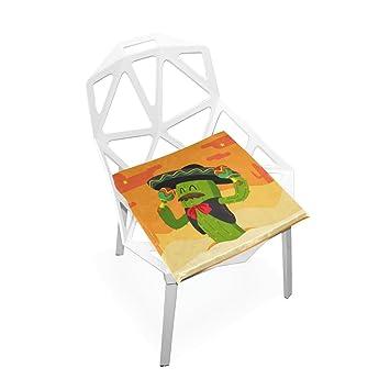 Amazon.com: Cojín de asiento Plao, Mr Cactus cojines de ...