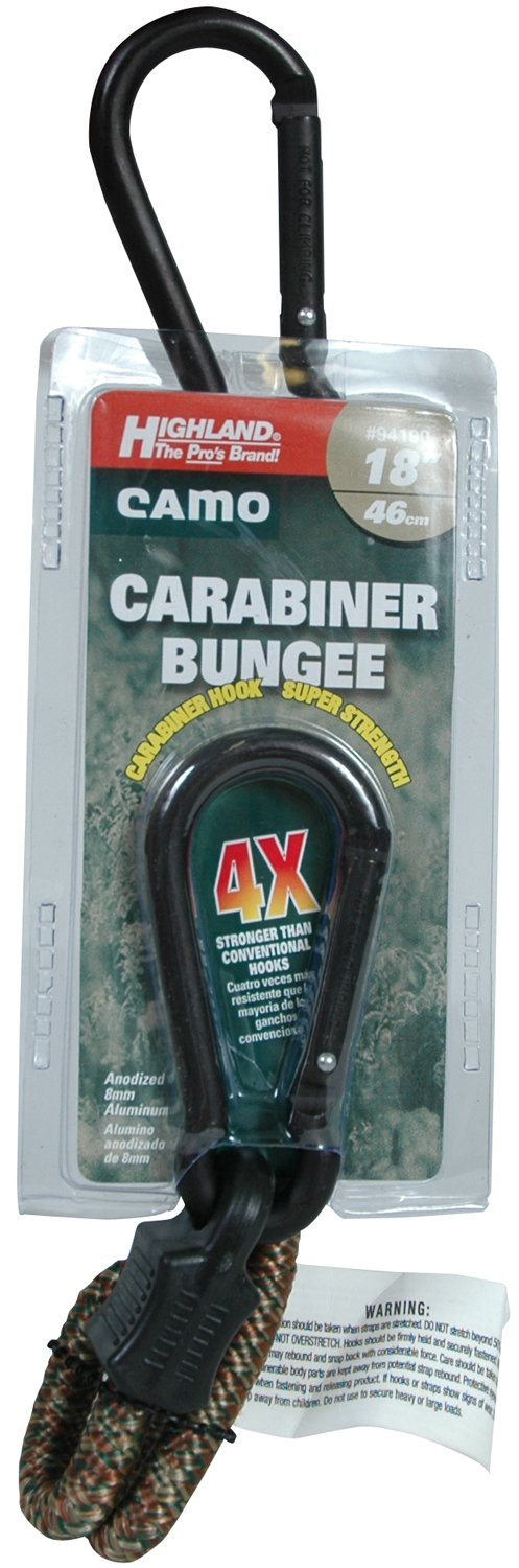 Highland 18 Camouflage Carabiner Bungee Cord BLK:94190 9419000