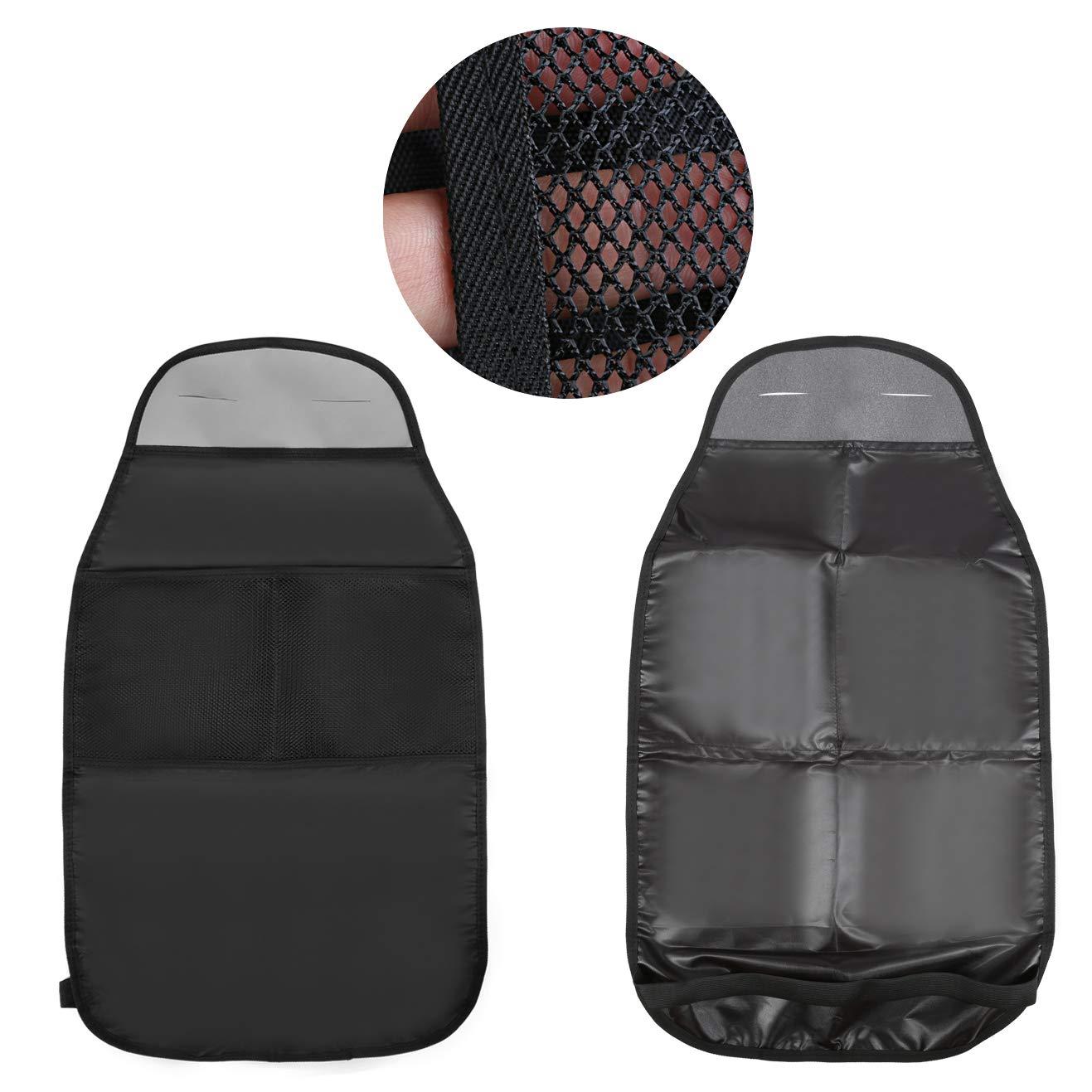 LIHAO 2er Autositzauflage mit R/ückenlehnenschutz Autositzschoner Kindersitz Unterlage