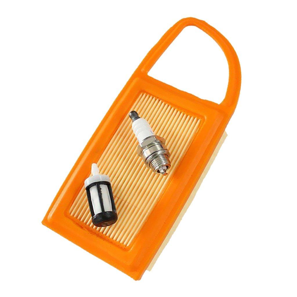 MagiDeal Air Filter for Stihl BR500 BR550 BR600 42821410300B 1403 Spark Plug Fuel Filter
