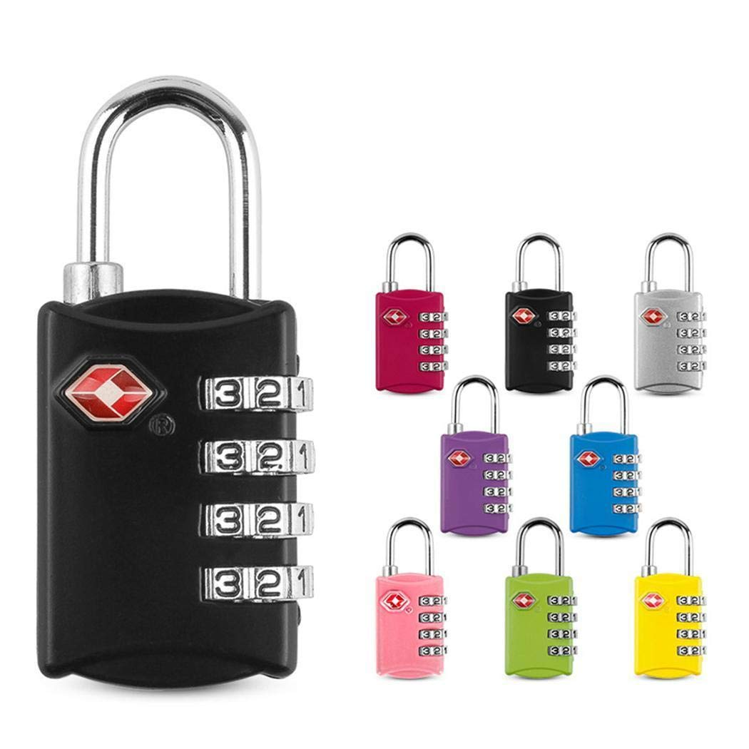 Set-Your-Own Combination Lock for School Gym Locker,Luggage Suitcase Baggage Locks,Filing Cabinets,Toolbox,Case Luggage Travel Lock 2 Pack