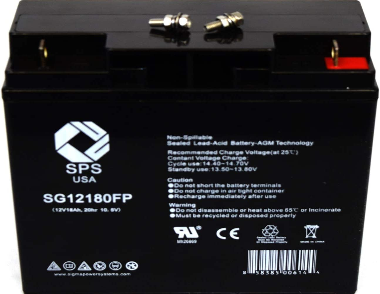 This is an AJC Brand Replacement APC SmartUPS SUA750XL 12V 18Ah UPS Battery