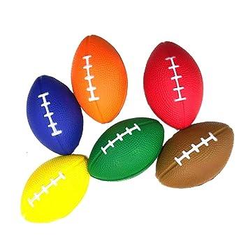 Amosfun 6PCS PU Balones de estrés de fútbol Balones de Rugby ...