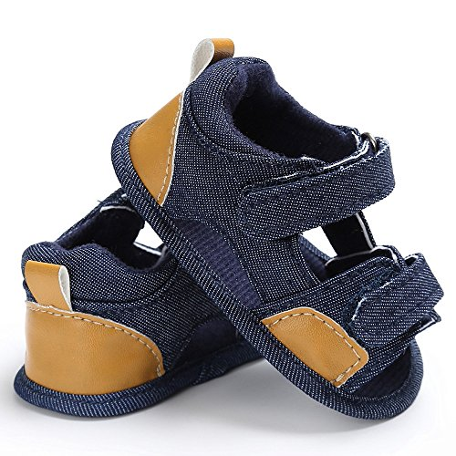 Baby Shoes Miuye Baby Boys Toddler Canvas Infant Kids Girl Boys Sole Crib Toddler Sandals Shoes Blue