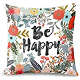 Sayings-BE HAPPY SURROUNDED WITH FLOWERS AND PLANTS Personalized Pillow Cover
