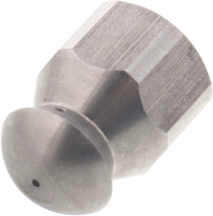 """Erie Tools Rotating 1//4/"""" Sewer Jetter Nozzle for Drain Cleaning 7.0 Orifice"""