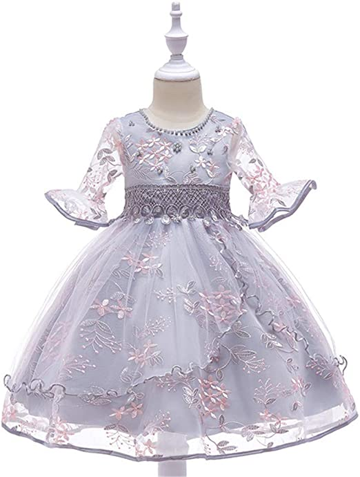 FHYER Vestido de niña Falda Princesa Vestido de niña de Flores ...