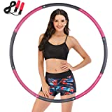 Yomoni Fitness Exercise Weighted Hoola Rings for Adult, 8 Section Detachable Design-Professional Soft Exercise Hoop for…
