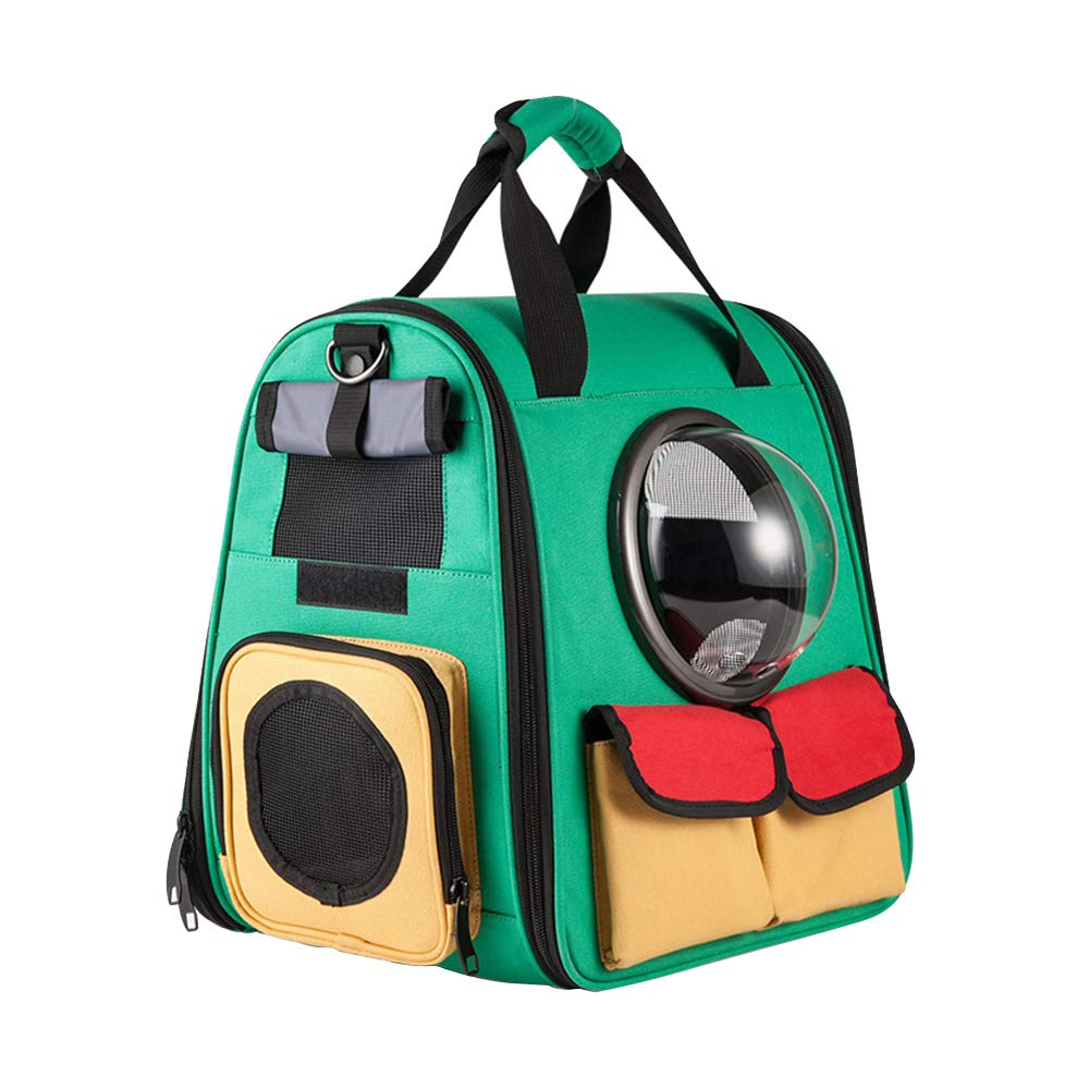 PFMY.DG Pet Carrier Space Capsule, Foldable Canvas Backpack, Soft Double-sided Mesh Breathable, Portable Cat Handbag, Suitable for Dogs and Cats