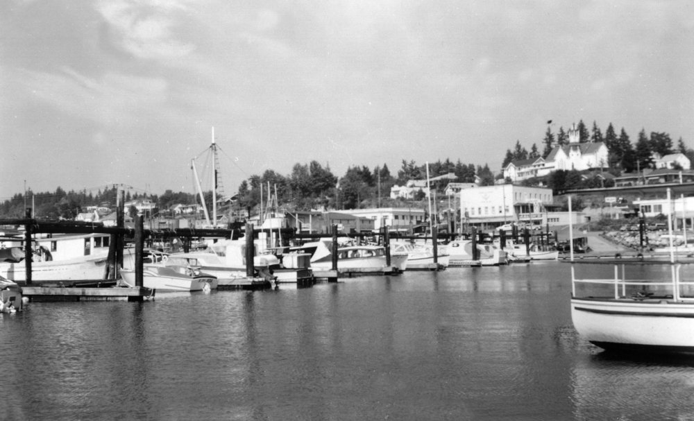 Poulsbo, Washington - View of the Waterfront (12x18 Art Print, Wall Decor Travel Poster)