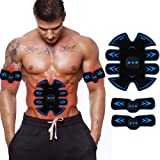 ABS Stimulator Muscle Toner, Rechargeable EMS Abdomen Muscle Trainer with 10 Modes 15 Levels, Muscle Toner Toning Belt for Men Women, Office, Home Gym
