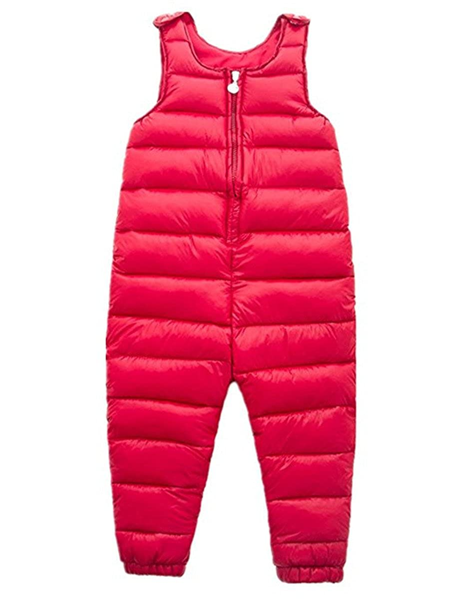 Little Girls Boys One Piece Winter Puffer Sleeveless Jacket Jumpsuit Snowsuit Romper Vchirtsy041