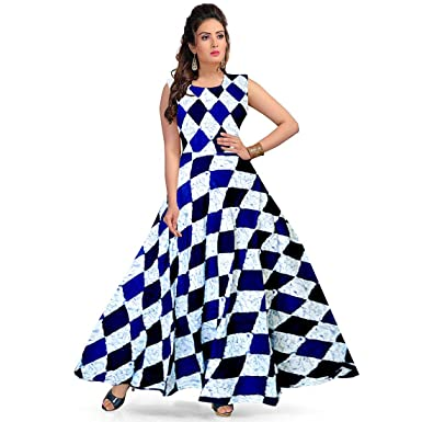 434071b1ca Khushi Print Women s Latest Western Solid Rayon Fit   Flare Dress for Women  - Party Wear