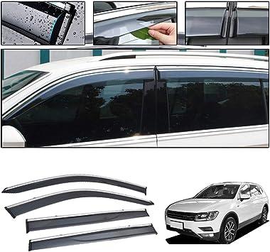 For VW Tiguan 2016-2019 Side Window Visors Sun Rain Guard Vent Deflectors