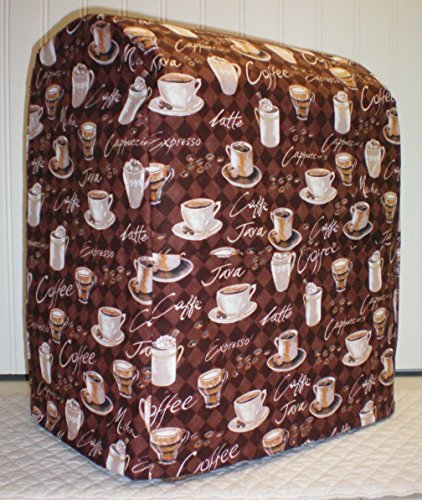OKSLO Coffee theme quilted cover for kitchenaid 7 quart lift bowl stand mixer (all bro