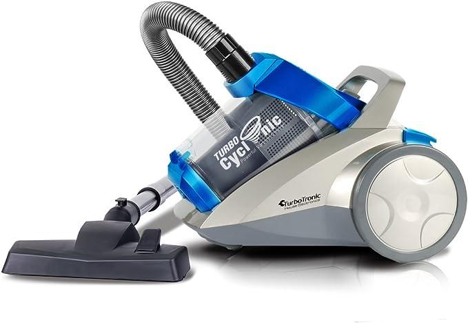Aspiradora ciclónica de 1400 W con potencia de succión de 22 kPa sin bolsa, con filtro HEPA colore blu: Amazon.es: Hogar