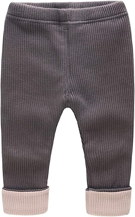 Bebé Niñas Leggings Largo Pantalones Invierno Pantalón Deportivo Joggers Algodón Trajes 12-18 Meses: Amazon.es: Bebé