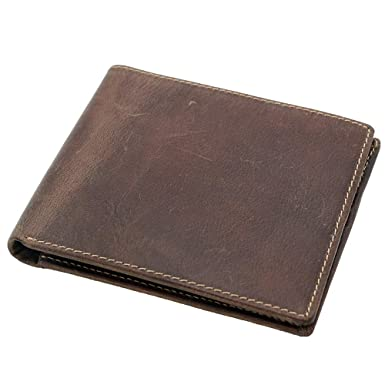 33b48ee16472 Men's RFID Blocking Vintage Italian Genuine Leather Slim Bifold Wallet  Handmade Gift Box