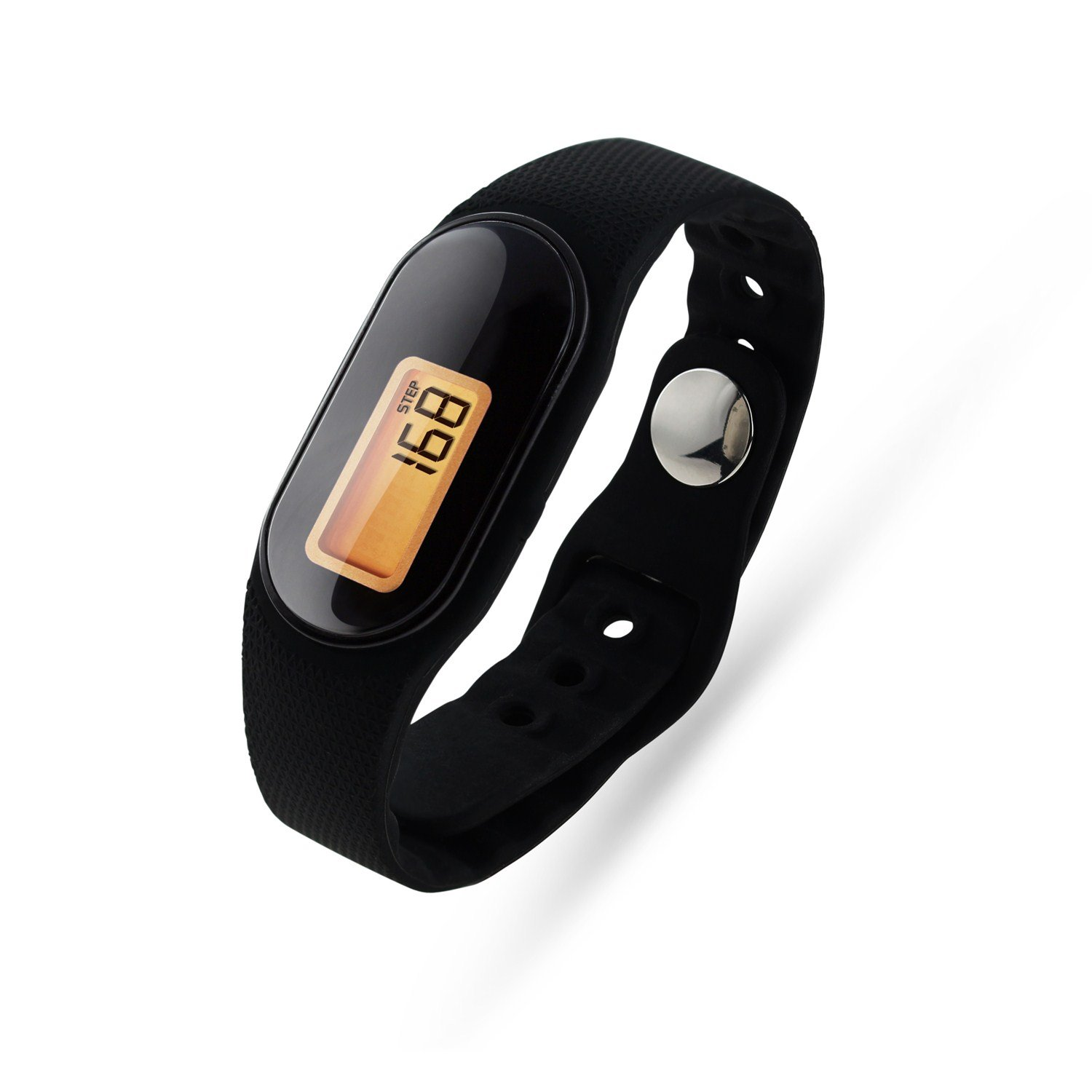 U-Trak 3D Pedometer Sport Wristband IP67 Waterproof Fitness Tracker with Accurately Track Steps/Distance /Calories,Exercise Time,Clock (No App,No Phone need) for Walking Running (Black)