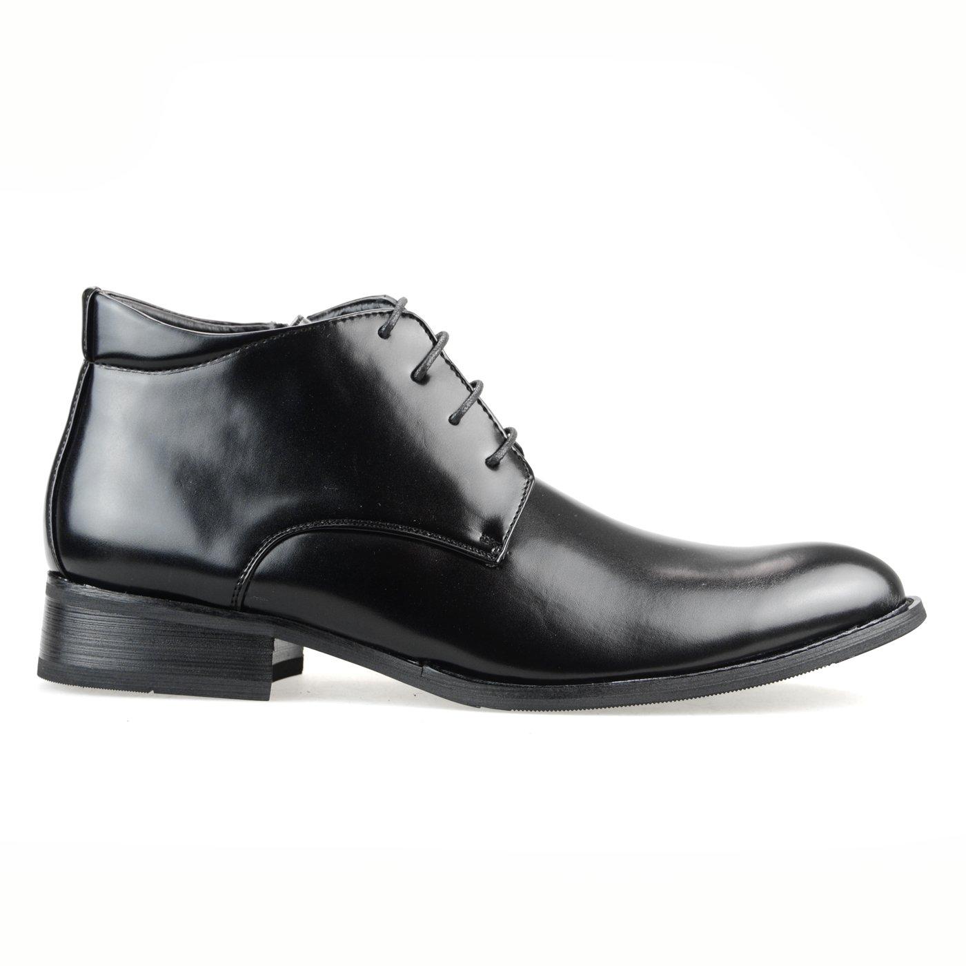 【11960円相当】 撥水加工 低反発 2足セット ビジネスシューズ メンズ ビジネスブーツ デザート ブーツ ショートブーツ ビジネス メンズ 靴 紳士靴 福袋 [ エムエムワン ] MM/ONE 【 UZF39B 】 B01LRVWM7Y 27.5 cm 3E Dブラック+Eダークブラウン Dブラック+Eダークブラウン 27.5 cm 3E