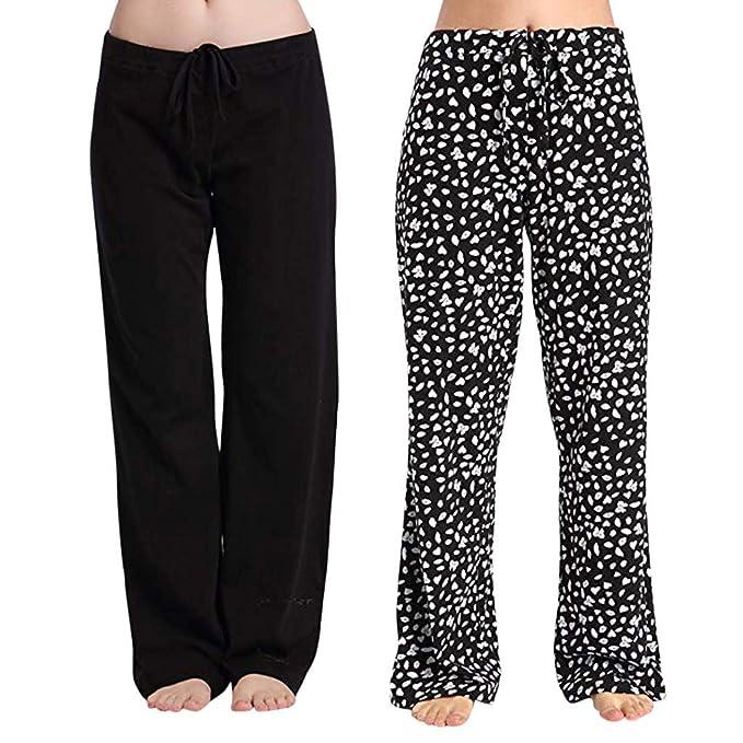 QIMANZI - 2 Pantalones para Mujer, de algodón elástico, para ...