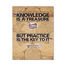 "Geyer Instructional Products 953402 ""Knowledge is a Treasure"" Poster, 17"" Height, 22"" Length, Multi-Colored"