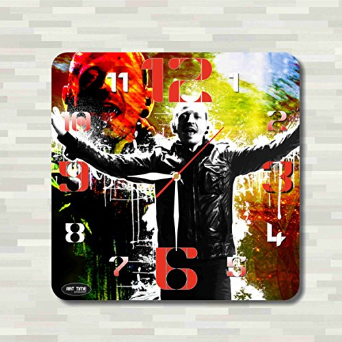 Bennington Clock (Art time production Linkin Park - Chester Bennington 11.8'' Handmade unique Wall Clock - Get unique décor for home or office – Best gift ideas for kids, friends, parents)