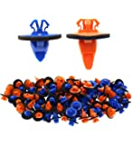 AUTOKAY New 100x Orange & Blue Clips for 4Runner Tacoma Trim Moulding 75395-35070 75396-35020
