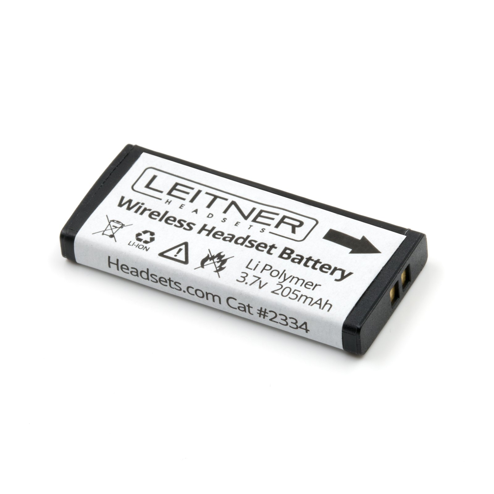 Genuine Replacement Battery for Leitner Wireless Headsets. Works with The Leitner LH170, LH270, LH275, and LH280