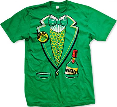 b4abee22b Amazon.com: St. Patty's Day Irish Tuxedo Men's T-shirt, Hilarious St ...