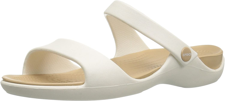 Marron 34//35 EU Crocs Cleo V Sandal Women Espresso//Mushroom Sandales Bout Ouvert Femme