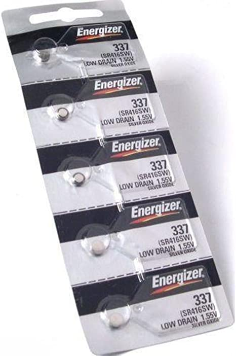 2 x Energizer 337 635317 1,55V 8mAh SR416SW SR416 SR 416 SW V 337 BATTERIE
