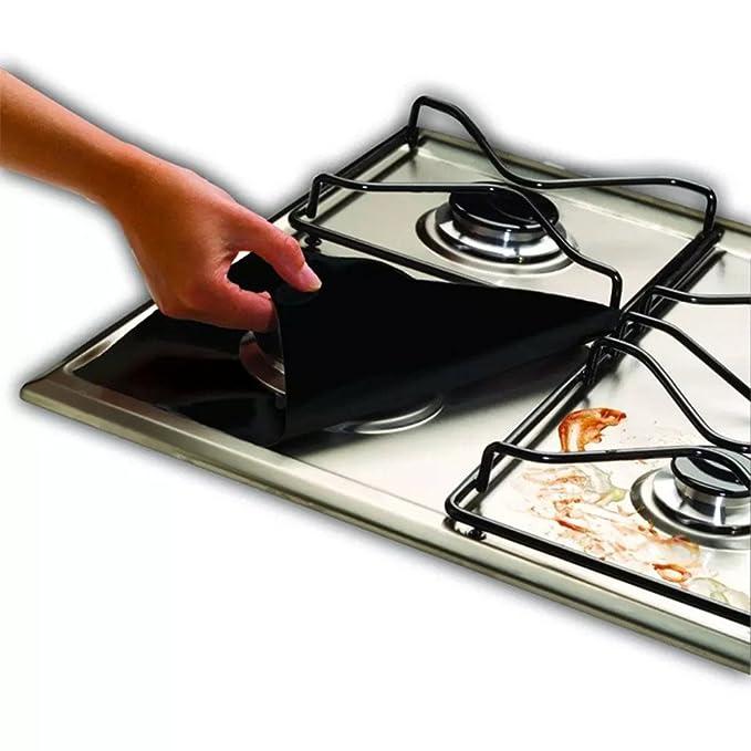 Estufa de gas pantalla, Miyare 4 pc de GAS estufa Pad reutilizable Gas gama pantalla -- Alta Temperatura Resistencia fácil de limpiar: Amazon.es: Grandes ...