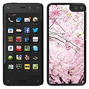 Caucho caso de Shell duro de la cubierta de accesorios de protección BY RAYDREAMMM - Amazon Fire Phone - Primavera Japón pétalos florales Blooming cerezo
