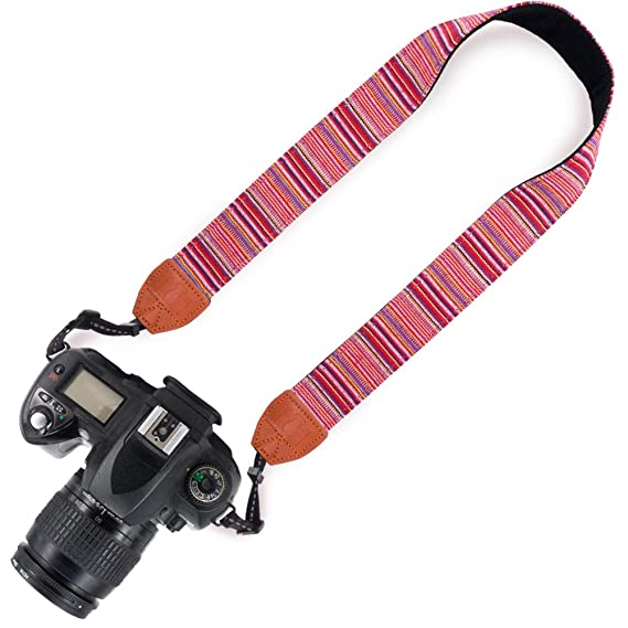 Amazon.com   Elvam Printed Stylish Camera Neck Shoulder Strap Belt for Men  Women Compatible with Universal DSLR SLR and Other Camera (Aztec Striped  01)   ... 7725b20b85