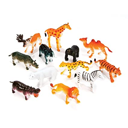 Amazon Com Rhode Island Novelty 12 Little Zoo Animals Toys Games
