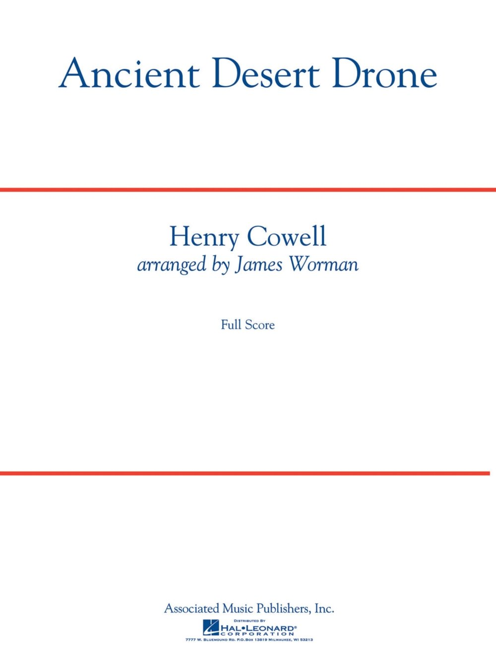 Read Online G. Schirmer Ancient Desert Drone Concert Band Level 5 Composed by Henry Cowell pdf epub